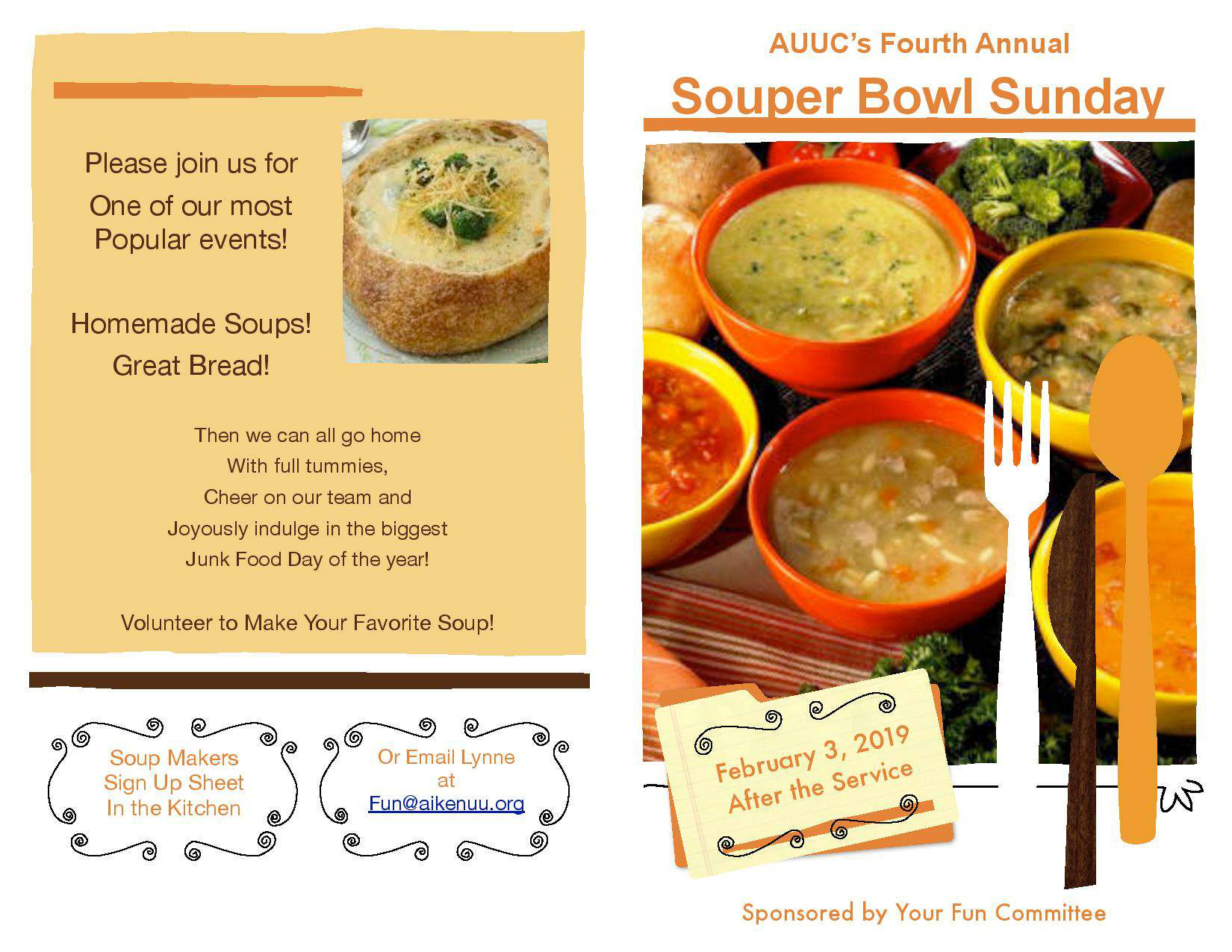 Souper Bowl Flyer 2019