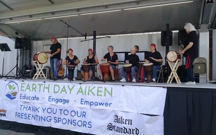 AUUC at Earth Day 2017 stage - downtown Aiken