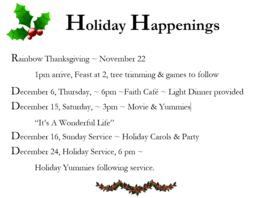 2018 Holiday Events
